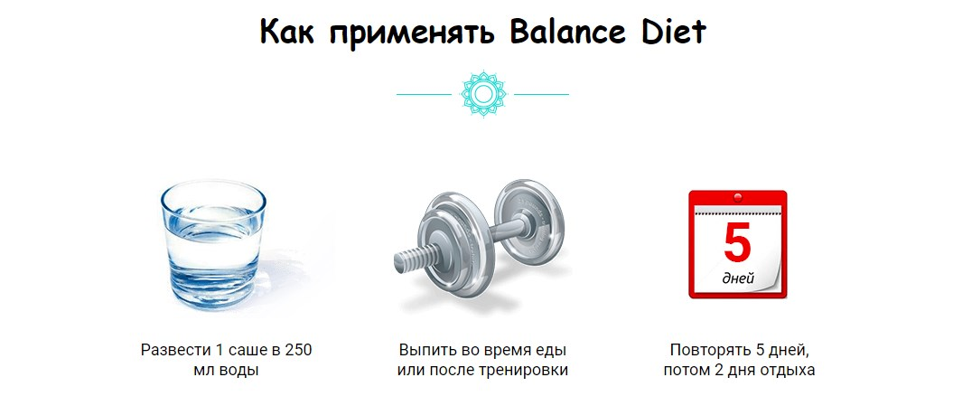Balance Diet инструкция